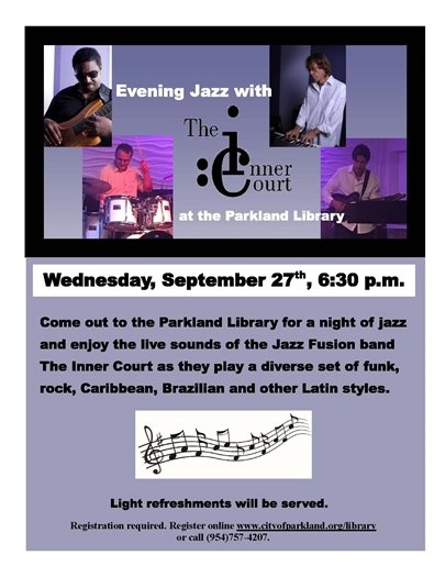 Jazz at the Parkland Library